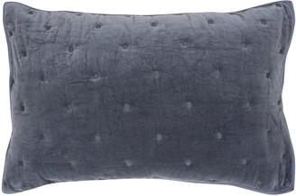 Wallace Cotton Indigo Chalet Velvet Standard Pillowcase