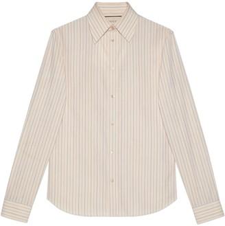 Gucci Washed striped cotton shirt