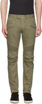 Balmain Green Biker Rib Jeans