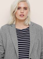 Violeta BY MANGO Herringbone-Pattern Cotton Blazer