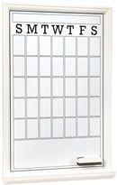 Study Wall Boards, Single, Dry Erase Calendar, White