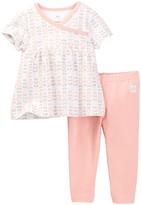 Boppy Owl Floral Dress & Legging Set (Baby Girls)