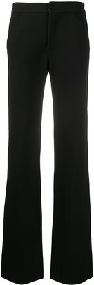Versace Pre-Owned 2000s High-Waisted Flared Trousers