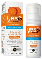 Yes To Carrots Fragrance Free Daily Moisturizer SPF 15 - 1.7 oz