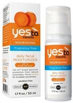 Yes To Carrots Fragrance Free Daily Moisturizer SPF15 - 1.7 fl oz
