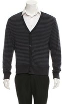 John Varvatos Striped V-Neck Cardigan