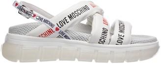 Love Moschino Logo Printed Sandals