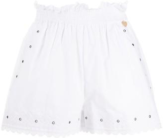 Twin-Set Scalloped Hem Shorts