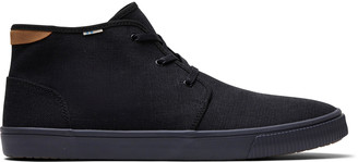 Toms Black Canvas Mens Carlo Mid Top Sneakers