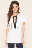 Forever 21 FOREVER 21+ Boxy Lace-Up Top