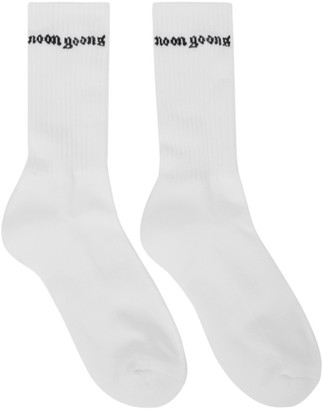 Noon Goons Two-Pack White Logo Socks