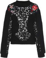 Vivetta Hatta Lace and Cotton-Blend Sweater