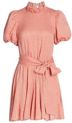 Alice + Olivia Mina Pleated Tie-Waist Dress