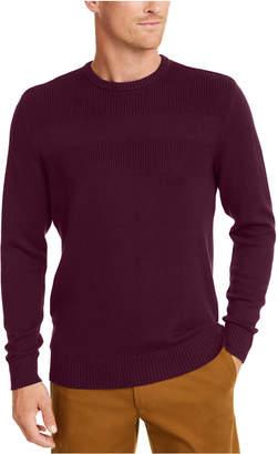 Club Room Men Cotton Solid Textured Crew Neck Sweater