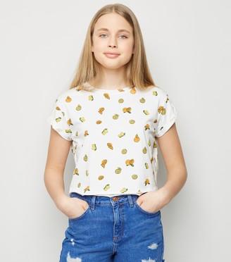 New Look Girls Fruit Print T-Shirt