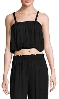 Cool Change coolchange coolchange Women's Ophelia Crop Top - Black - Size Medium