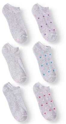 Hanes Women's Comfortblend No Show Socks, 6 Pack