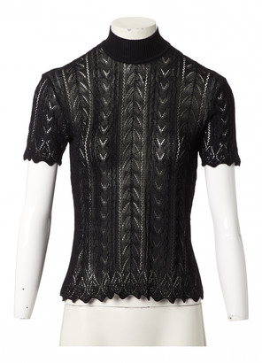 Saint Laurent Black Lace Tops