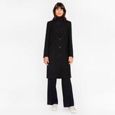 Paul Smith Women's Black 'A Coat To Travel In' Wool Epsom Coat