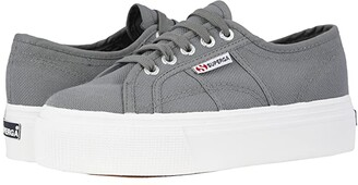 Superga 2790 Acotw Platform Sneaker (Grey Sage) Women's Lace up casual Shoes