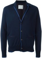 Sacai notched lapel cardigan - men - Cotton/Wool - 4