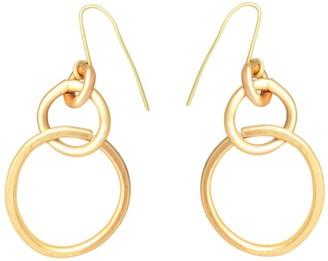 Lily Flo Jewellery 9K Embrace Gold Drop Earrings