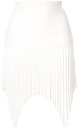 Dion Lee Angled Pleated Mini-Skirt