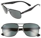 Ray-Ban 57mm Aviator Sunglasses