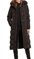 Lauren Ralph Lauren Women's Faux Fur Trim Hooded Down & Feather Fill Maxi Coat