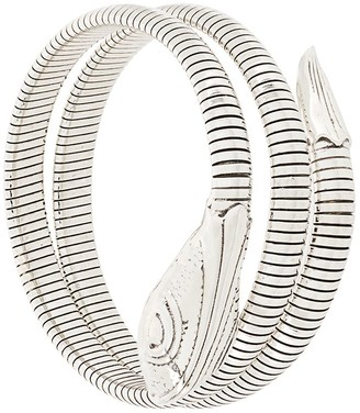 Gas Bijoux Serpent ribbed bracelet