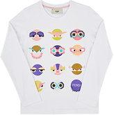 Fendi Monster-Print Cotton T-Shirt-WHITE