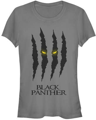 Fifth Sun Marvel Women Black Panther Eyes Glow Claws Scratch Short Sleeve Tee Shirt