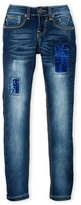Vigoss Girls 7-16) The Jagger Sequin Patch Skinny Jeans