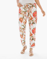 Chico's Textured Floral Utility Ankle Pants