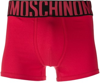 Moschino Jacquard-Logo Waistband Boxers
