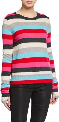 Pam & Gela Striped Pullover Sweater