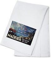 Madeira Vintage Poster (artist: Romer) Portugal c. 1949 (100% Cotton Absorbent Kitchen Towel)