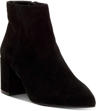 INC International Concepts Inc Women Omira Pointed-Toe Block-Heel Booties, Women Shoes