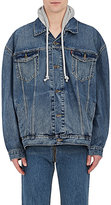 Vetements Men's Hooded Denim Trucker Jacket