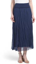 Petite Crinkle Skirt
