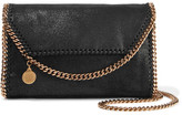 Stella McCartney The Falabella Faux Brushed-suede Shoulder Bag - Black