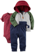 Carter's 3-Pc. Cotton Colorblocked Hoodie, Bodysuit and Pants Set, Baby Boys (0-24 months)