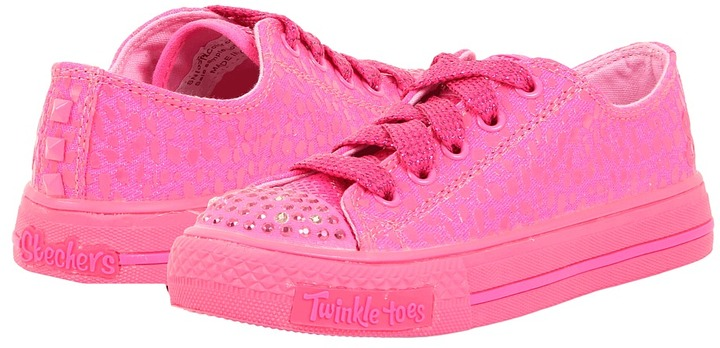 Skechers Shuffles 10293L (Little Kid/Big Kid) (Neon Pink) - Footwear