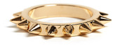 Maria Francesca Pepe MFP- MariaFrancescaPepe Gold Ring With All Over Spikes