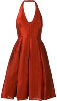 Halston backless halter dress - women - Polyester/Spandex/Elastane - 0