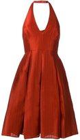 Halston backless halter dress - women - Polyester/Spandex/Elastane - 0