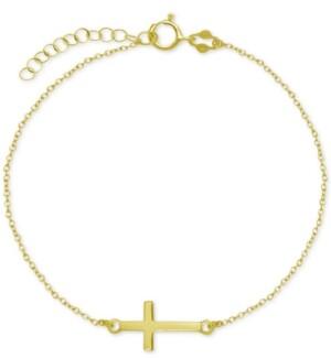 Giani Bernini East West Cross Ankle Bracelet in Sterling Silver