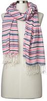 Cozy modal holiday stripe scarf