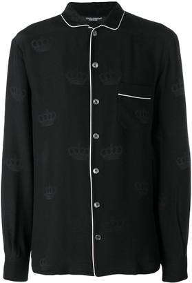 Dolce & Gabbana contrast piping pyjama top