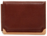 Trafalgar Two-Tone Triple Flip Leather Wallet & Clip